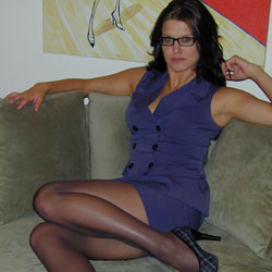 Horny nerdy jody in nylons. Jody is that lascivious girl at work with the glasses that just drives your penish straight into the bathroom every time you see her.